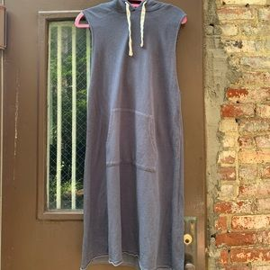 Monrow hooded muscle tee dress
